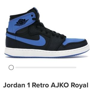 Nike Air Jordan 1 Retro X AOJK Royal Blue Black